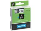 Tape Dymo 43613 6mm zwart/wit