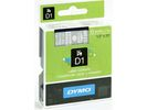 Tape Dymo D1 12mm wit/transp/ds 5