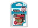Tape Dymo D1 12mmx3m Wit/Rood
