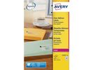 Etiket Avery L 38x21 transparant/ds 1625