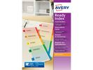 Tabblad Avery A4XL 9R Readyindex/set 12