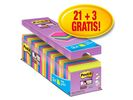 Notitieblok Super Sticky 76x76 neon/pk24