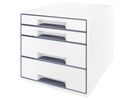 Leitz WOW desk cube 4D wit/grijs