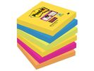 Notitieblok Super Sticky 76x76 neon/pk6