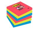 Notitieblok Super Sticky 76x76 neon/pk 6
