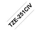 BROTHER LABEL TZE-251CIV BK/WH
